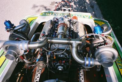 Twin Turbo 540 Chevy Motor